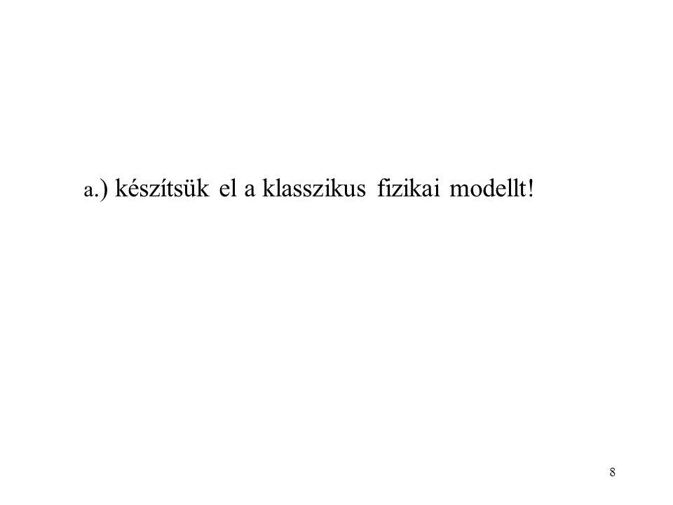 8 a.) készítsük el a klasszikus fizikai modellt!