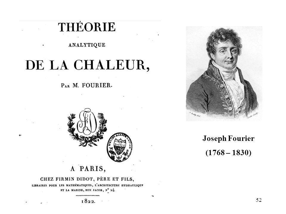 Joseph Fourier (1768 – 1830) 52