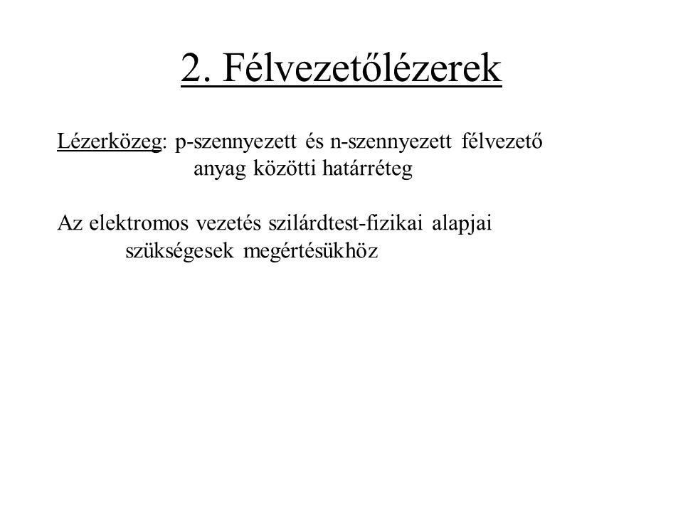 Az elektromos vezetés elmélete 1. Sávelmélet 2. Fermi-Dirac eloszlás 3. Vezetéselmélet