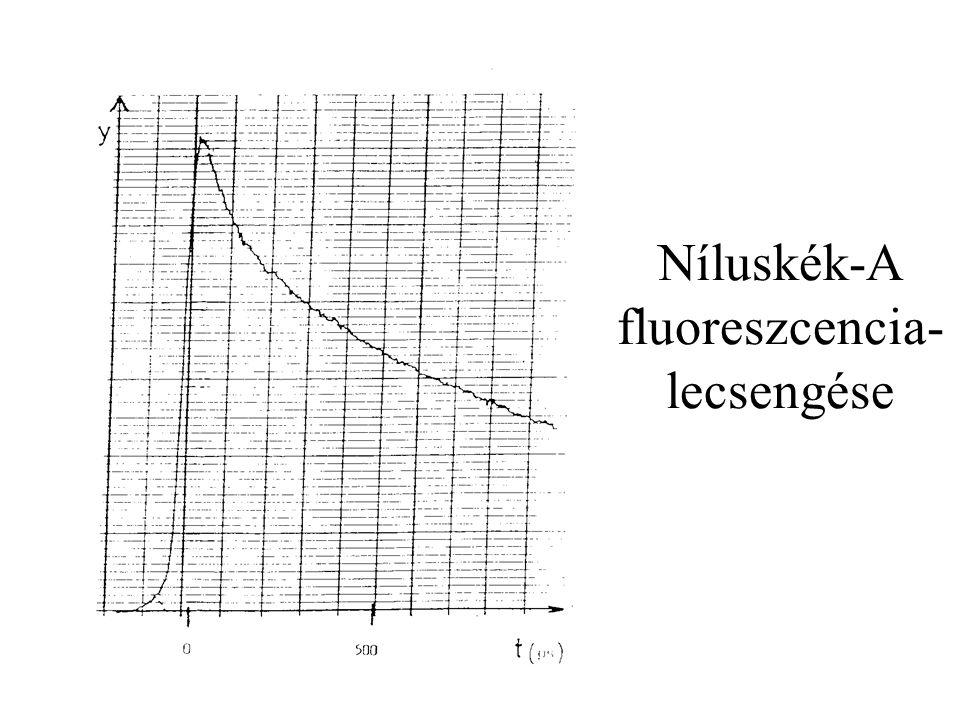 Níluskék-A fluoreszcencia- lecsengése