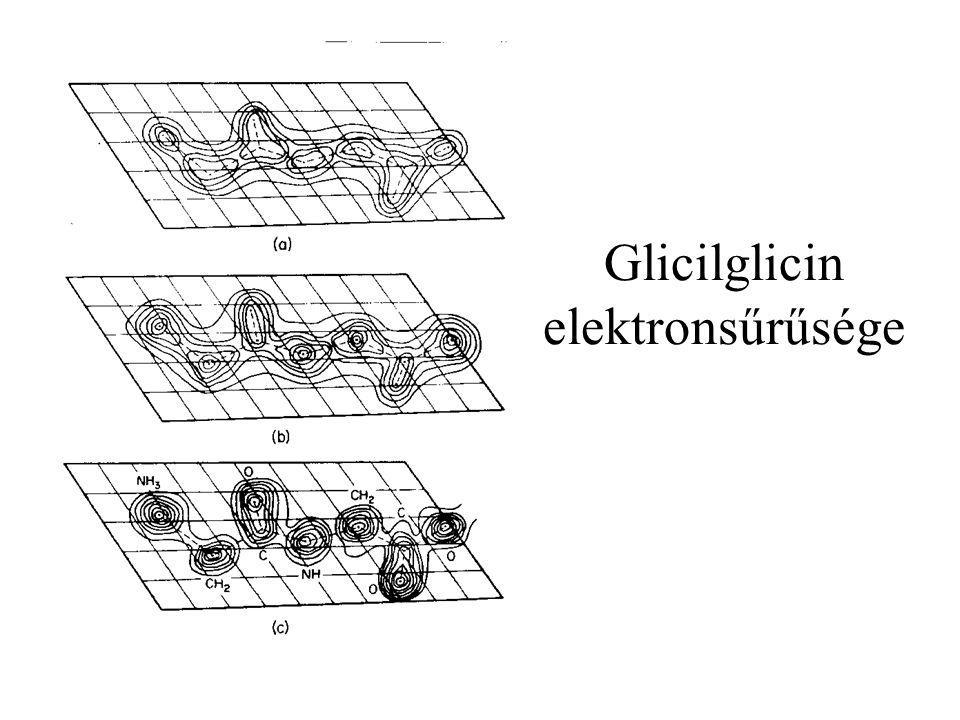 Glicilglicin elektronsűrűsége