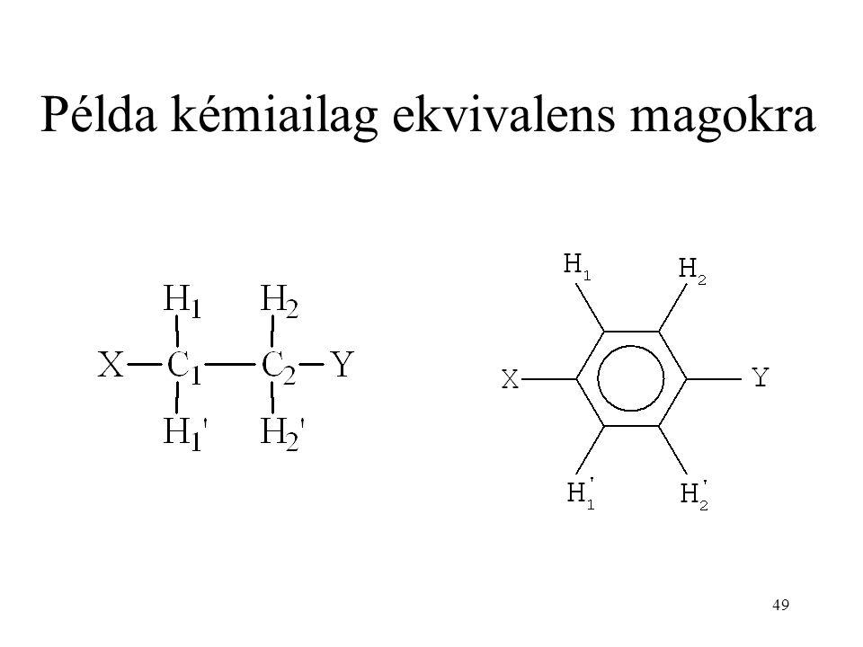49 Példa kémiailag ekvivalens magokra