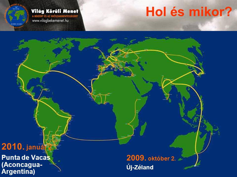 2010. január 2. Punta de Vacas (Aconcagua- Argentína) Hol és mikor 2009. október 2. Új-Zéland