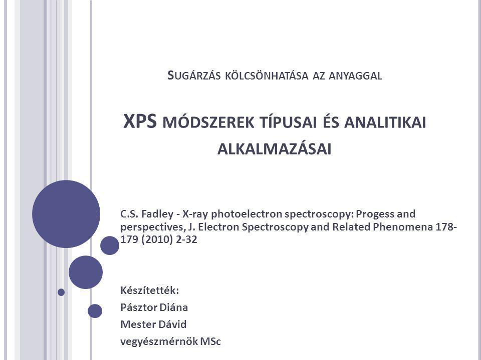 XPS ELVI ALAPJAI Fotoionizáció (hυ=1250-4500 eV)