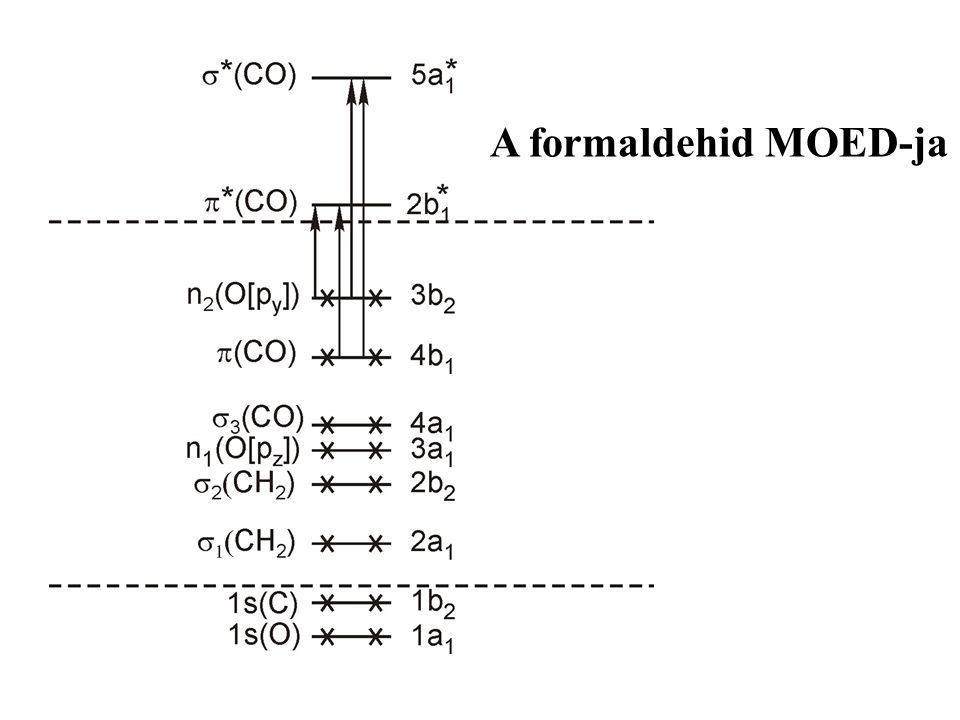 """Lokalizált és delokalizált MO-k  Egy atomra lokalizált: n-elektronpár (""""magányos"""" elektronpár)  Két atomra lokalizált  -kötés : hengerszimmetrikus"""