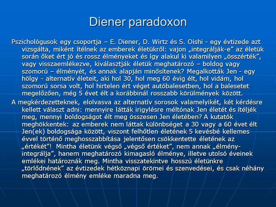Diener paradoxon Pszichológusok egy csoportja – E.