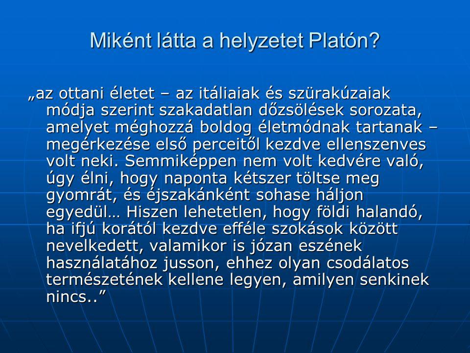Miként látta a helyzetet Platón.