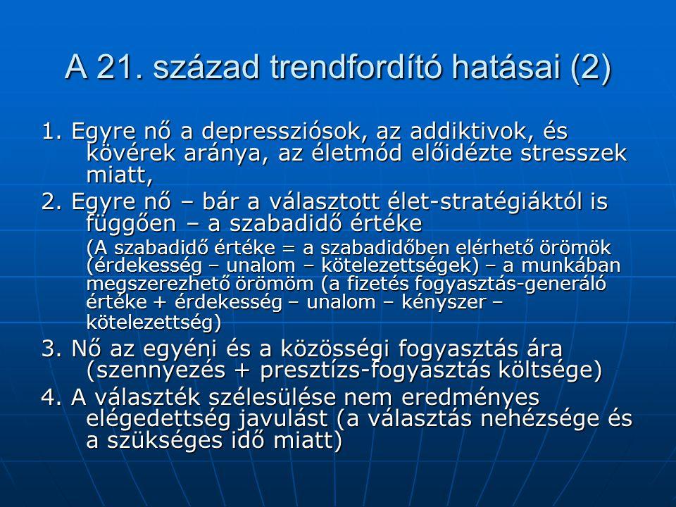 A 21.század trendfordító hatásai (2) 1.