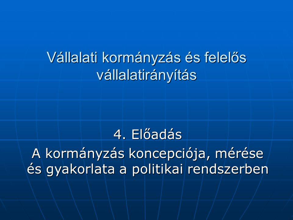 A kormányzás kérdései a politikában A kiindulópont a Demján Sándor által felvetett kérdés: mi tesz egy országot gazdaggá, sikeressé, és polgárait boldoggá.