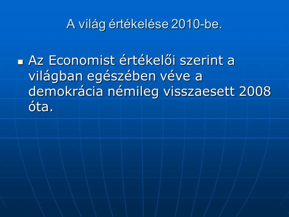 A világ értékelése 2010-be.