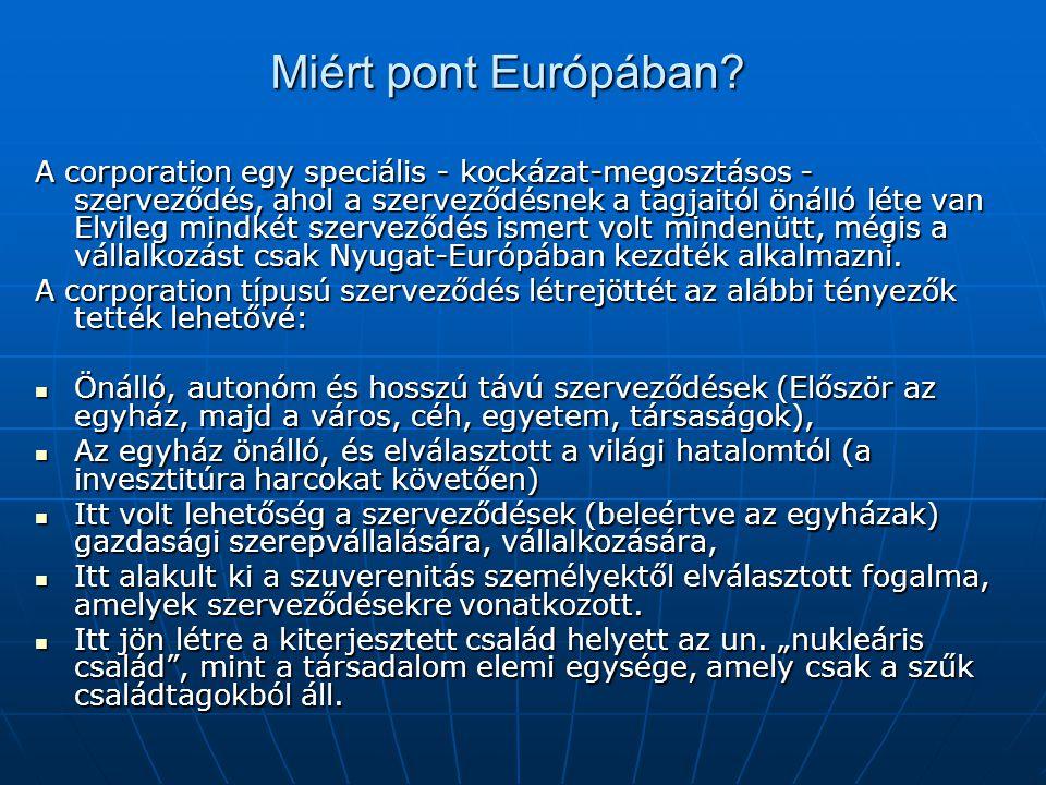 Miért pont Európában.