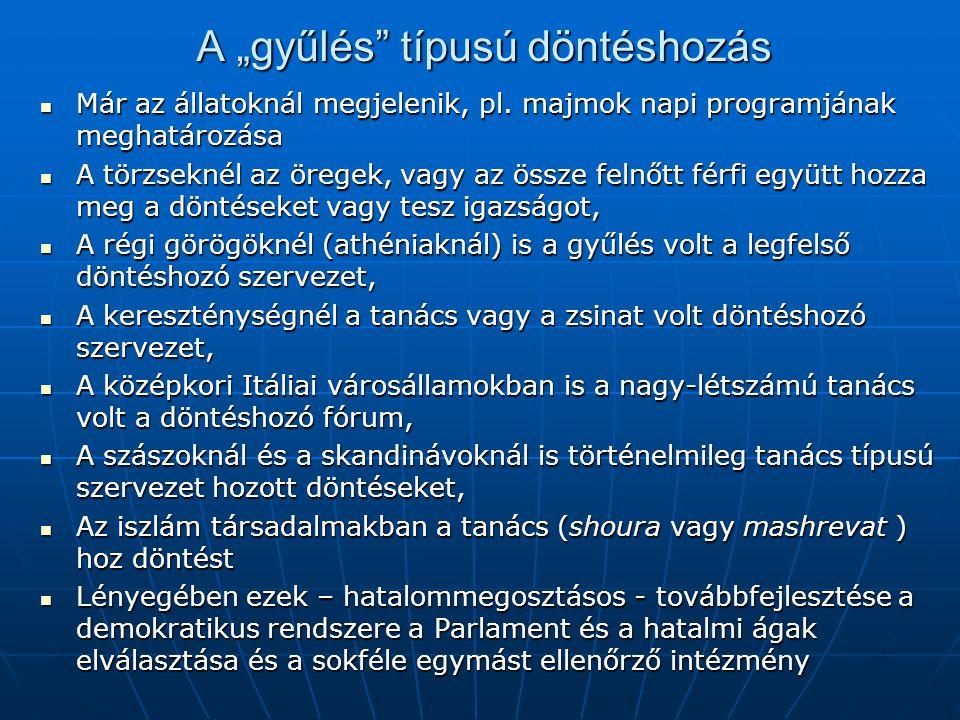"""A kormányzás megoldásai az államban Finoman kiegyensúlyozott rendszer formálódik ki: Parlament (ellenzékkel és kormánypárttal), Parlament (ellenzékkel és kormánypárttal), Kormány, Kormány, Elválasztott hatalmi ágak, Elválasztott hatalmi ágak, Alkotmánybíróság, Alkotmánybíróság, Köztársasági elnök (vagy Király), és """"ombucmanok , Köztársasági elnök (vagy Király), és """"ombucmanok , Nemzeti Bank, Nemzeti Bank, Állami Számvevő Szék, Állami Számvevő Szék, Média, Média, Érdekképviseleti szervezetek, önkormányzatok, Érdekképviseleti szervezetek, önkormányzatok, KSH, MTA, KSH, MTA,"""