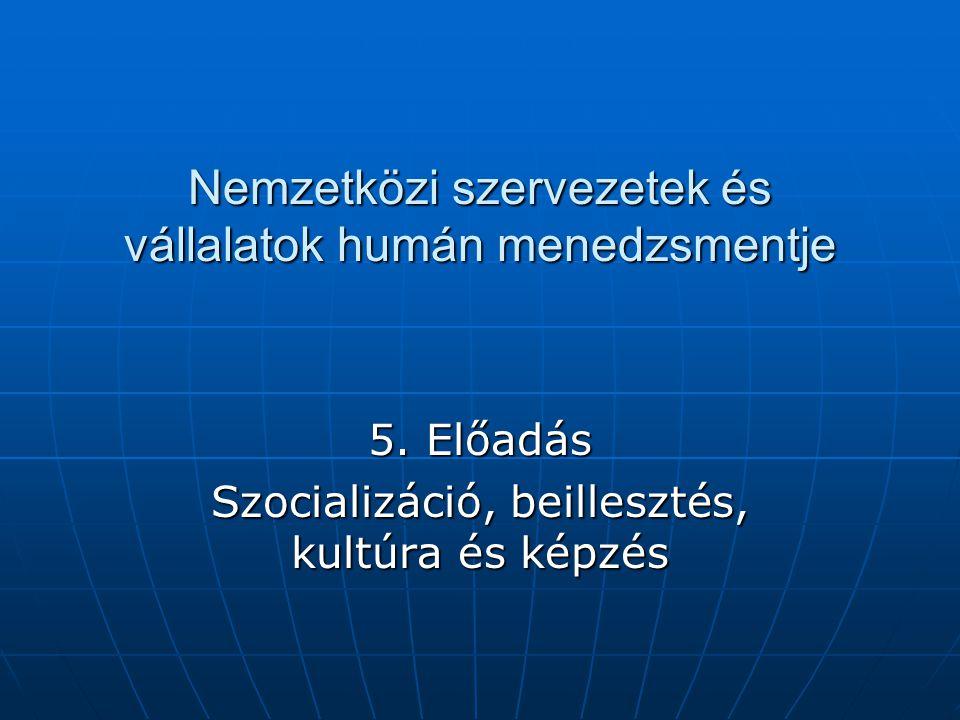 Nemzetközi szervezetek és vállalatok humán menedzsmentje 5.