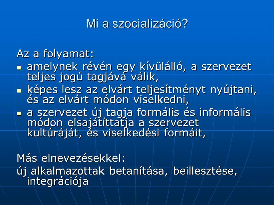 Mi a szocializáció.
