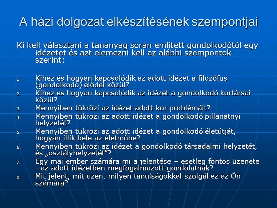A levelezős évfolyam tematikája Időpontok: Szept.17.