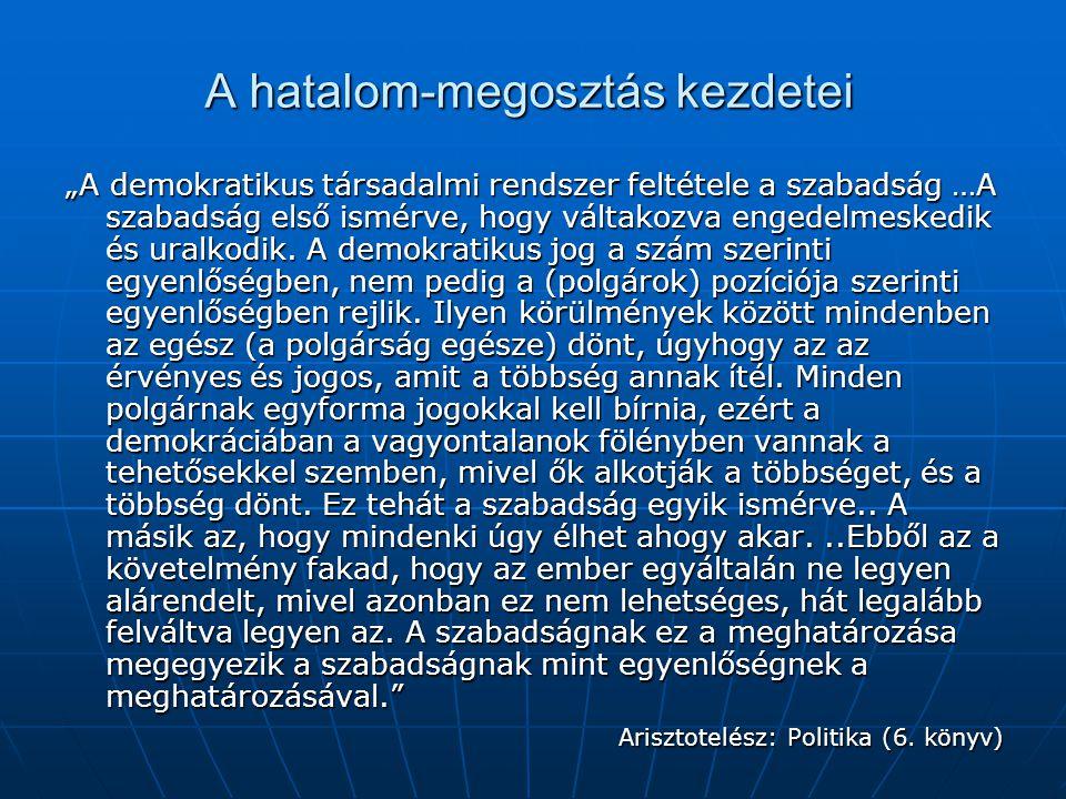 Arisztotelész – Az Athéni állam működése Sorsolják először is Athénia kincstárnokait.