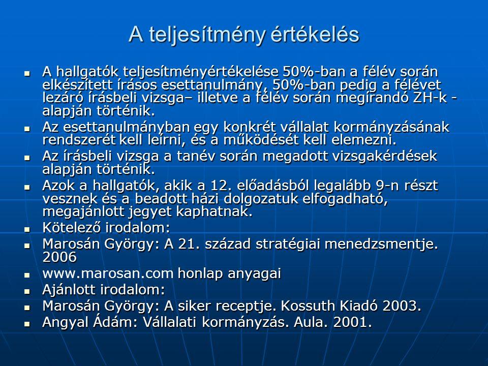 A vállalat (cég) négy alapvető jellegzetessége Korlátolt felelősség a befektető számára (csak befektetett tőkéjének mértékéig) Korlátolt felelősség a befektető számára (csak befektetett tőkéjének mértékéig) Szabad átruházhatóság, és eladhatóság a befektetői érdek alapján Szabad átruházhatóság, és eladhatóság a befektetői érdek alapján Jogi személyiségű szerveződés (a vállalat addig él, amíg tőkéje tart, saját érdekekkel rendelkezik) Jogi személyiségű szerveződés (a vállalat addig él, amíg tőkéje tart, saját érdekekkel rendelkezik) Központosított menedzsment (azt, hogy mit tesz konkrétan a vállalat a vezetés határozza meg), Központosított menedzsment (azt, hogy mit tesz konkrétan a vállalat a vezetés határozza meg), Amíg betartják a törvényt, és a saját maguk által meghatározott működési szabályt az állam nem avatkozhat be.