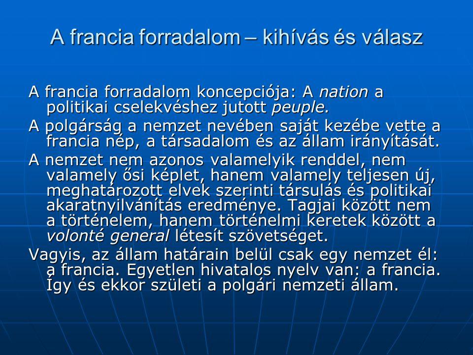 """A magyar nemzet a reformkorban: Wesselényi Miklós (1832) """"Hogy egy országnak millió lakosai közül ezer neveztessék nemzetnek, hogy csak ezen sokkalta"""