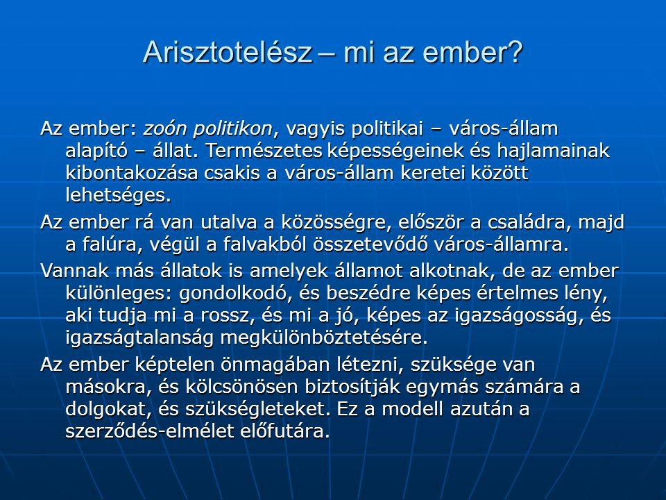 Arisztotelész – mi az ember.
