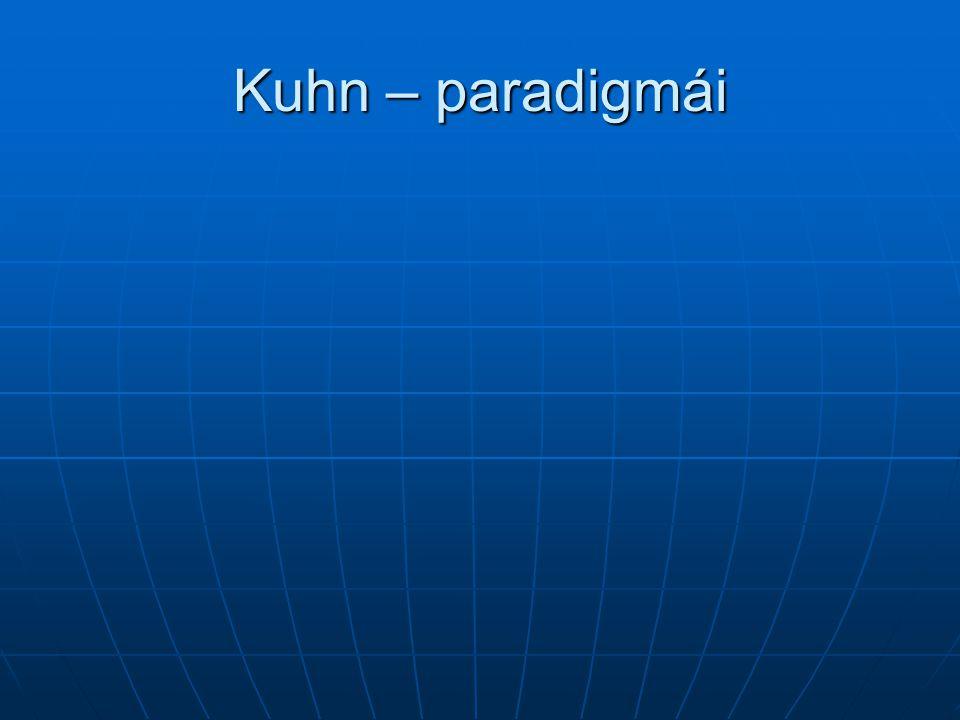 Kuhn – paradigmái