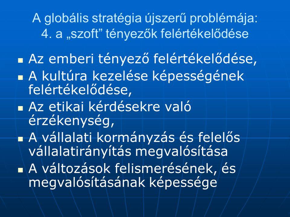A globális stratégia újszerű problémája: 4.