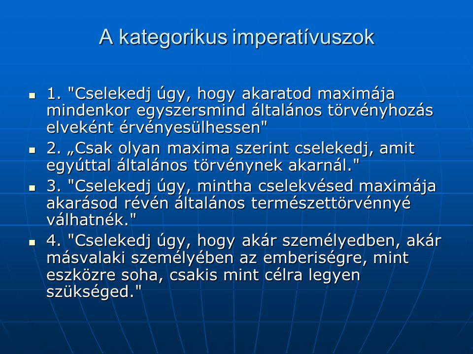 A kategorikus imperatívuszok 1.