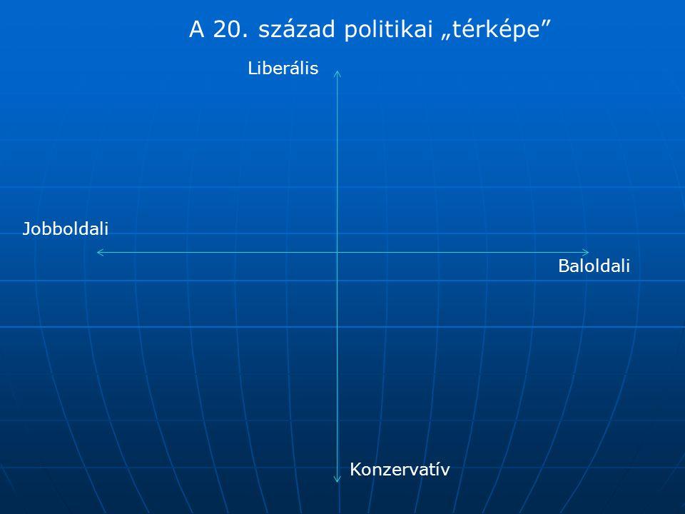 """Liberális Konzervatív Jobboldali Baloldali A 20. század politikai """"térképe"""""""