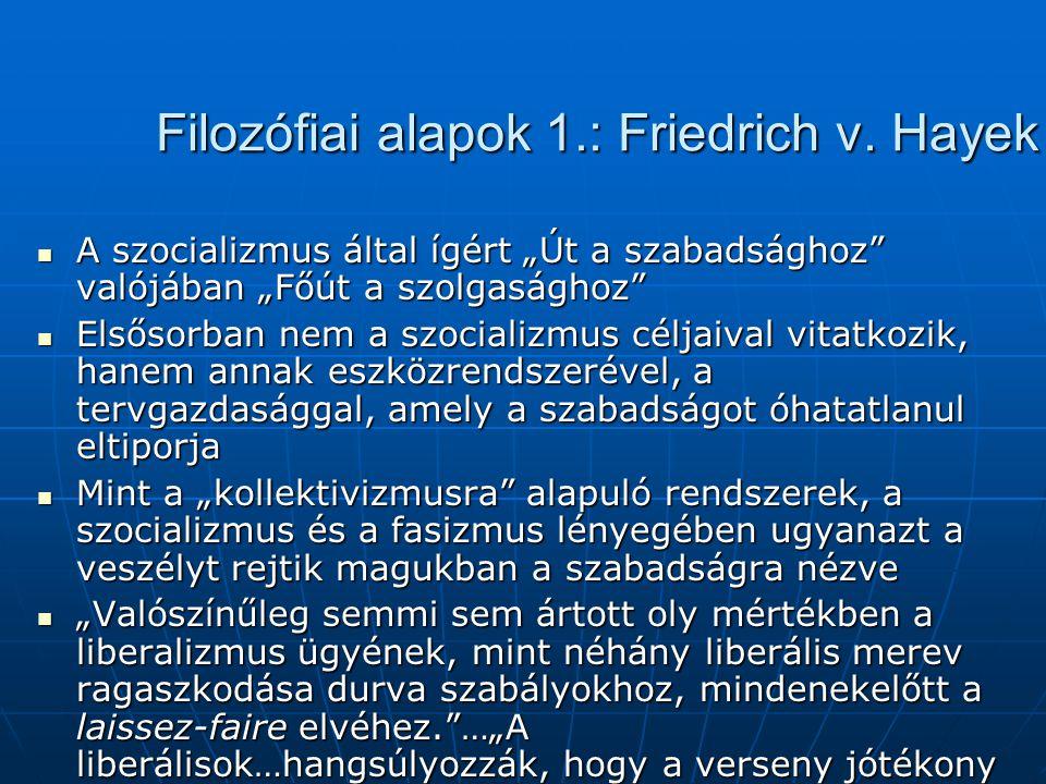 """Filozófiai alapok 1.: Friedrich v. Hayek A szocializmus által ígért """"Út a szabadsághoz"""" valójában """"Főút a szolgasághoz"""" A szocializmus által ígért """"Út"""