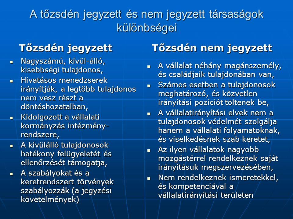 Vállalatirányítási alapelv a nagy TNJ vállalatok számára 12.
