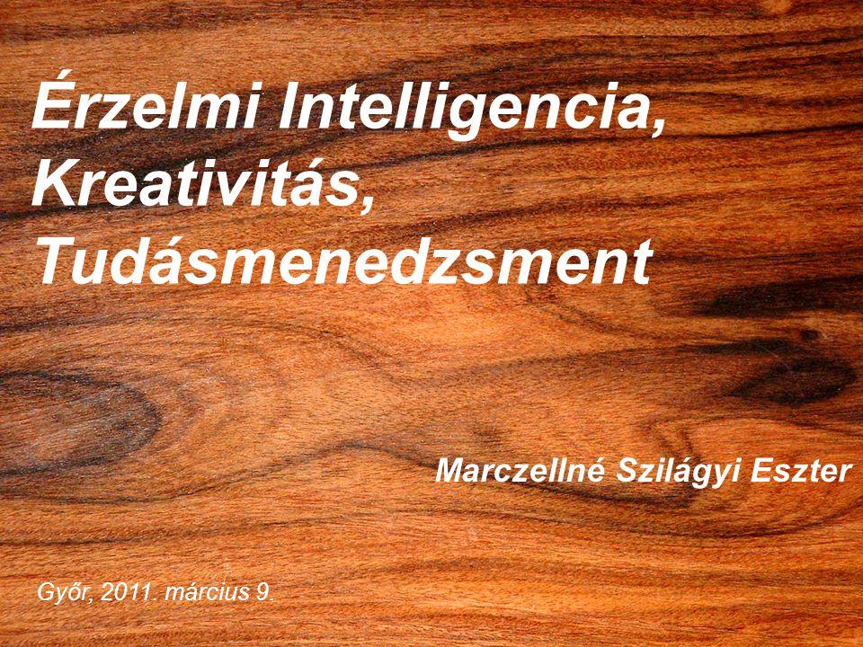 Érzelmi Intelligencia, Kreativitás, Tudásmenedzsment Marczellné Szilágyi Eszter Győr, 2011. március 9.