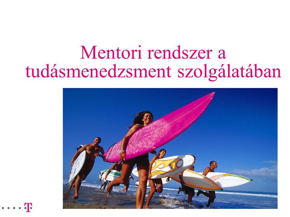 2 Miért pont mentor I.? Két lábon járó tudásközpont A tacit tudások kinyerésének legjobb modellje