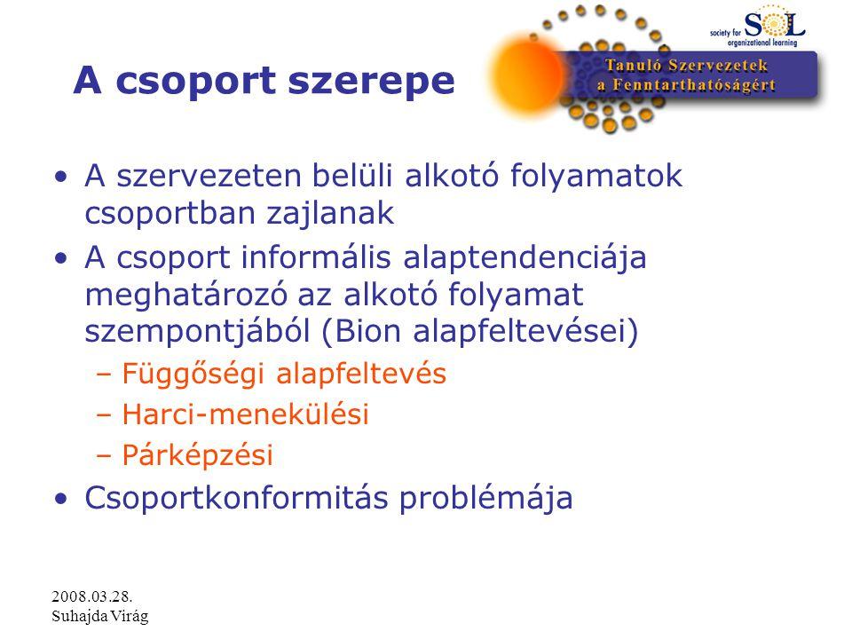 2008.03.28. Suhajda Virág Csoporton belüli hálók (Mérei, 1996)