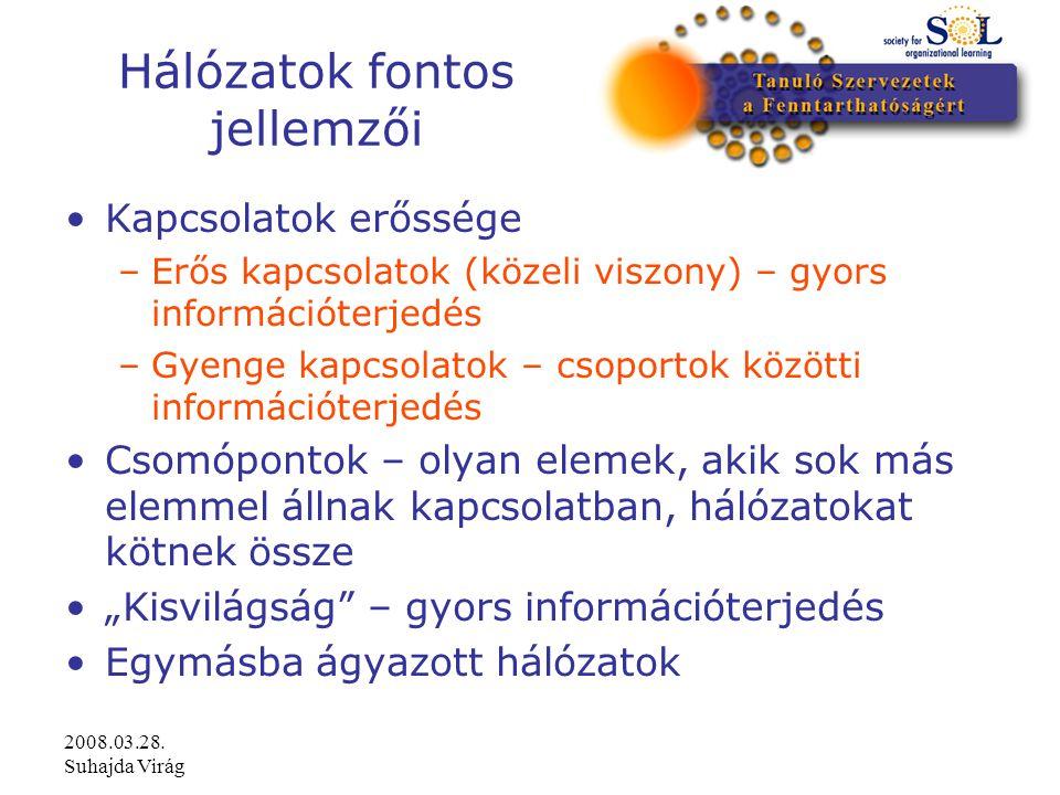 2008.03.28.Suhajda Virág Mit üzennek a hálózatok.