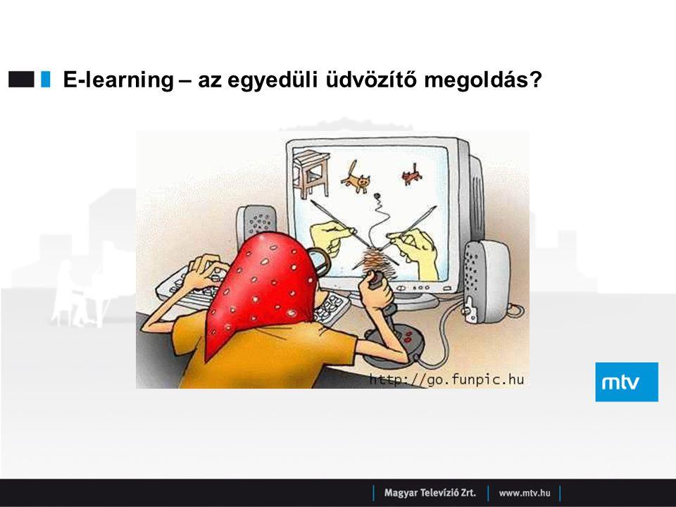 E-learning – az egyedüli üdvözítő megoldás?