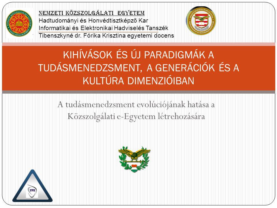 Döntés: NATO Nyílt e-Egyetem (Open e-University) Akkreditációs folyamat Személyi feltételek biztosítása Anyagi és technikai feltételek biztosítása Külső feltételek feltárása Döntés: Kísérleti szak indítása Együtt- működési szerződések Pályázati és szponzori szerződések Szenátusi határozat Elő- akkreditáció