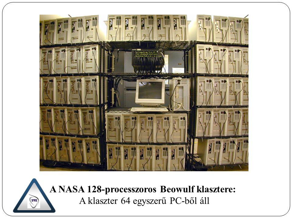 A NASA 128-processzoros Beowulf klasztere: A klaszter 64 egyszerű PC-ből áll