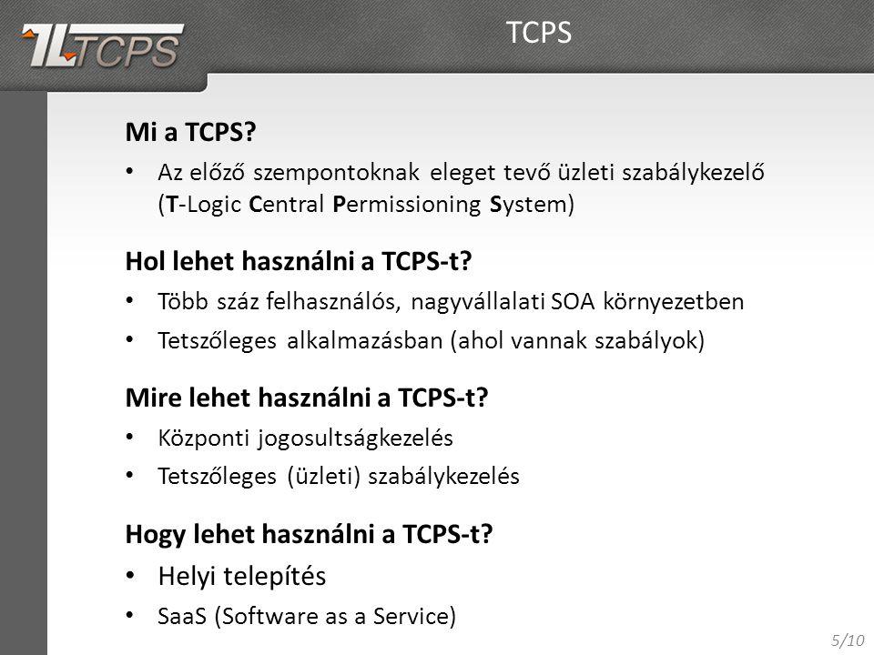 5/10 Mi a TCPS.