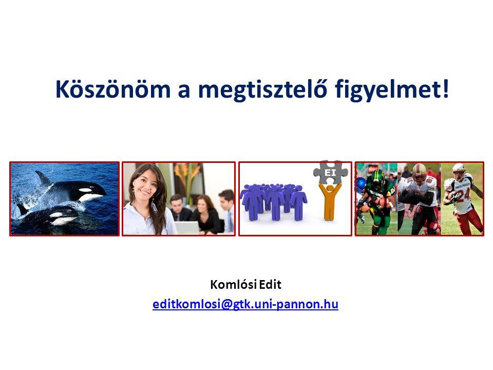 Komlósi Edit editkomlosi@gtk.uni-pannon.hu Köszönöm a megtisztelő figyelmet!
