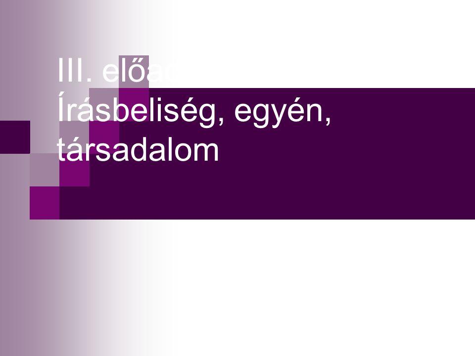 Vázlat Írott nyelv-beszélt nyelv Társadalom és írásbeliség Egyén és írásbeliség Funkcionális analfabetizmus