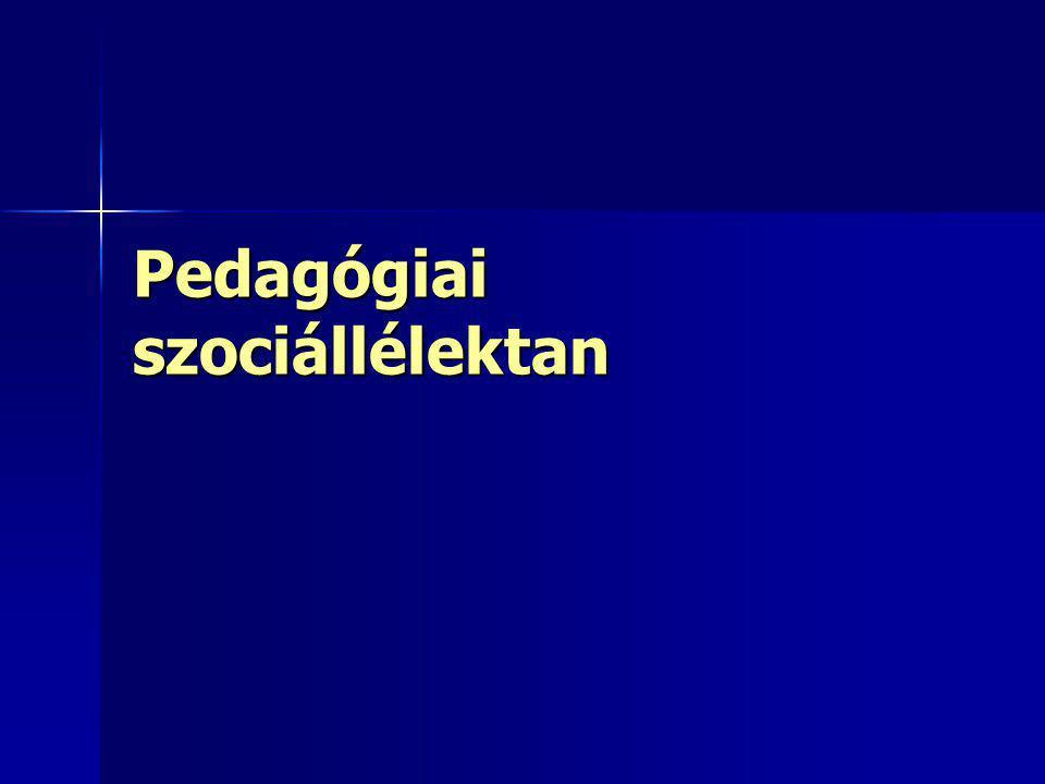 Pedagógiai szociállélektan