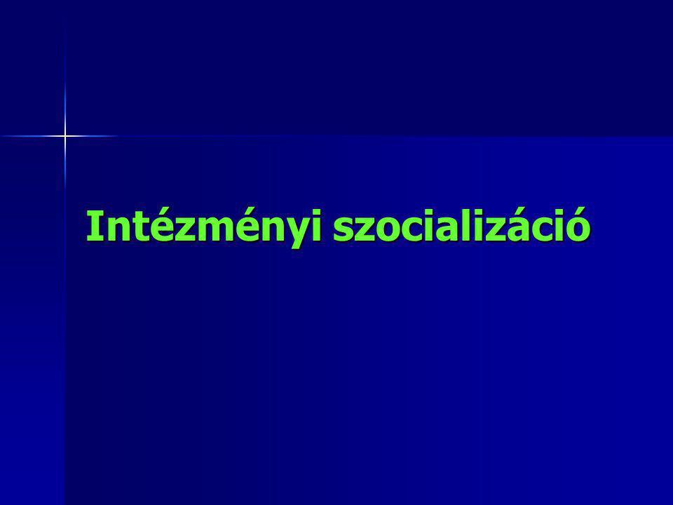 Intézményi szocializáció