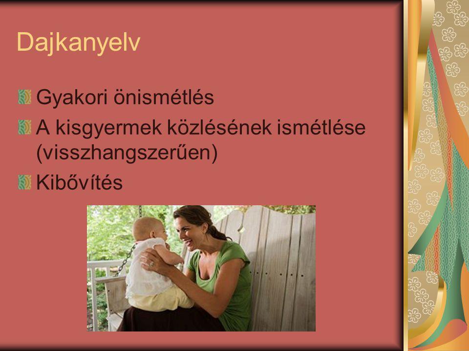 Dajkanyelvi szókincs Legfőbb sajátossága a különleges szókincs.
