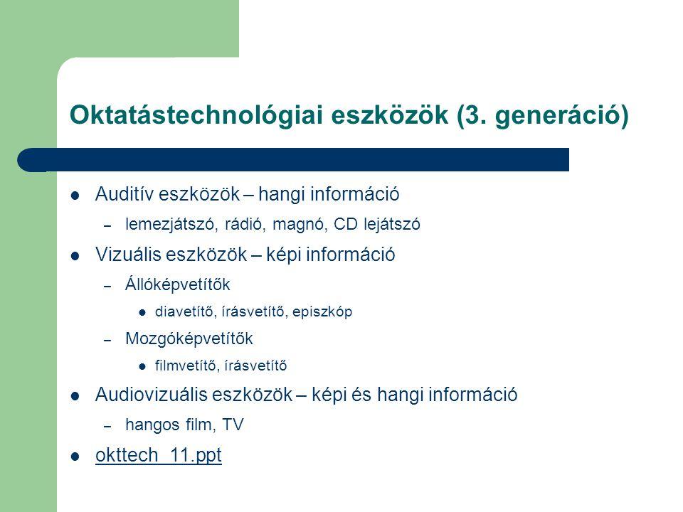 Oktatástechnológiai eszközök (3.
