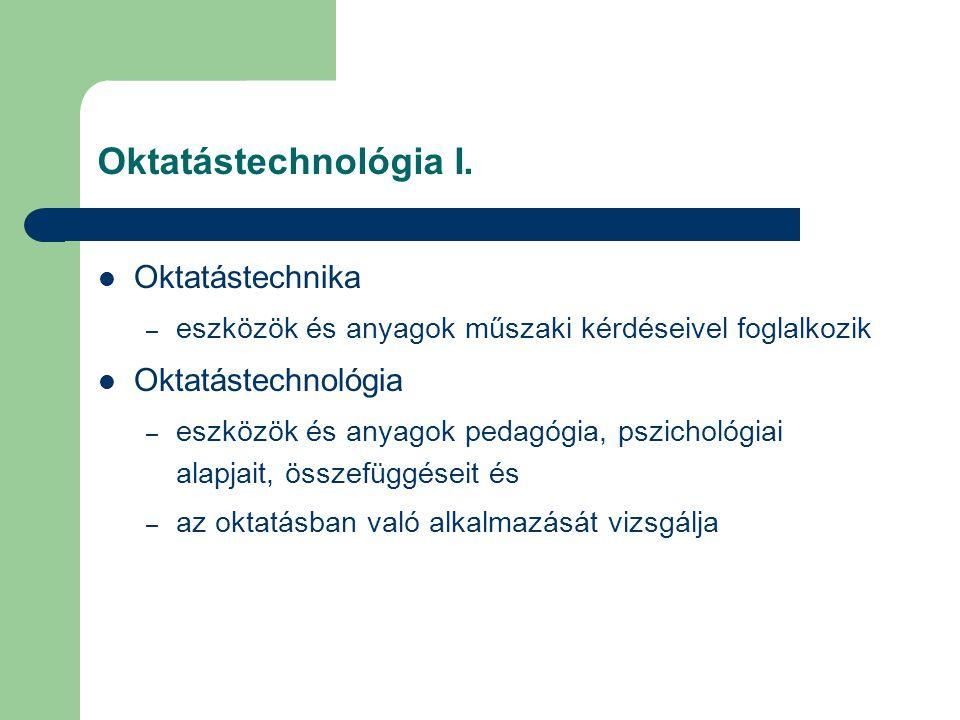 Oktatástechnológia I.