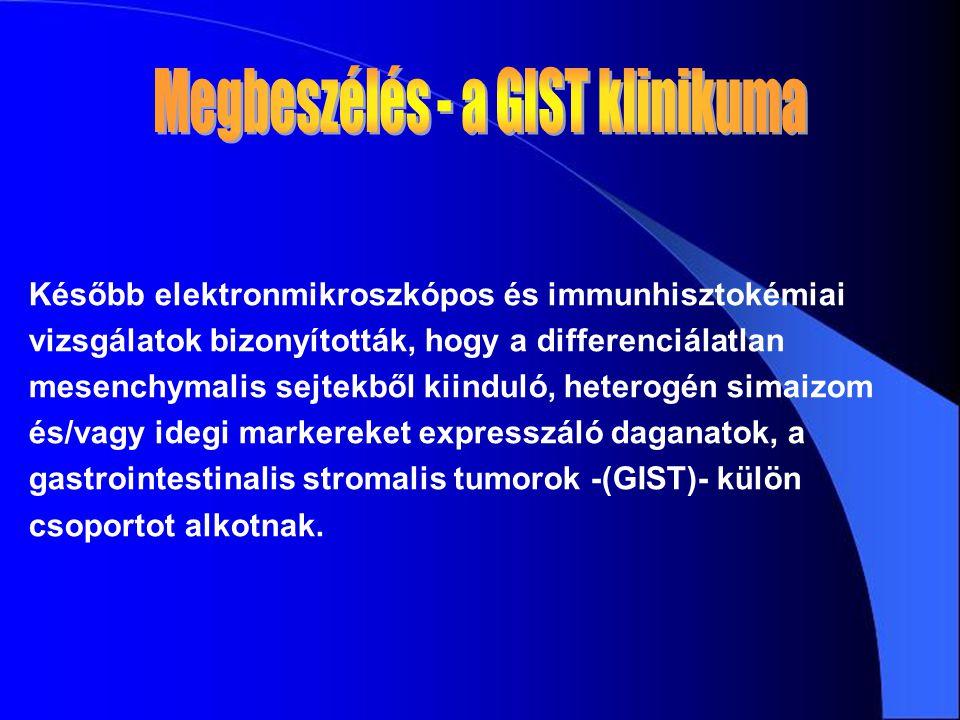 Később elektronmikroszkópos és immunhisztokémiai vizsgálatok bizonyították, hogy a differenciálatlan mesenchymalis sejtekből kiinduló, heterogén simai