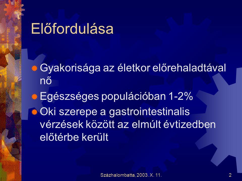 Százhalombatta, 2003.X. 11.13 Esetismertetés (folytatás)  Gastroscopia chr.