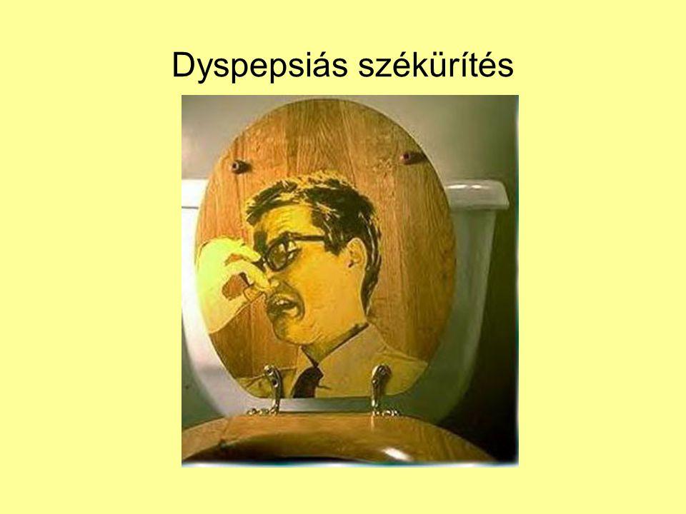 Dyspepsiás székürítés