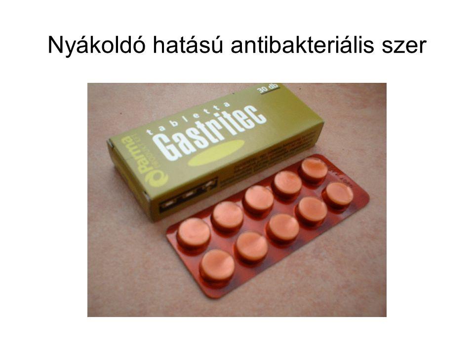 Nyákoldó hatású antibakteriális szer