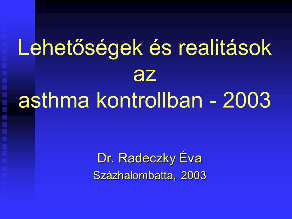 Lehetőségek és realitások az asthma kontrollban - 2003 Dr. Radeczky Éva Százhalombatta, 2003