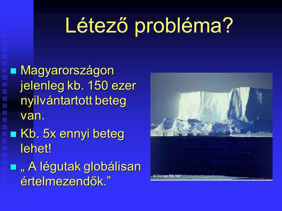 Létező probléma? Magyarországon jelenleg kb. 150 ezer nyilvántartott beteg van. Magyarországon jelenleg kb. 150 ezer nyilvántartott beteg van. Kb. 5x